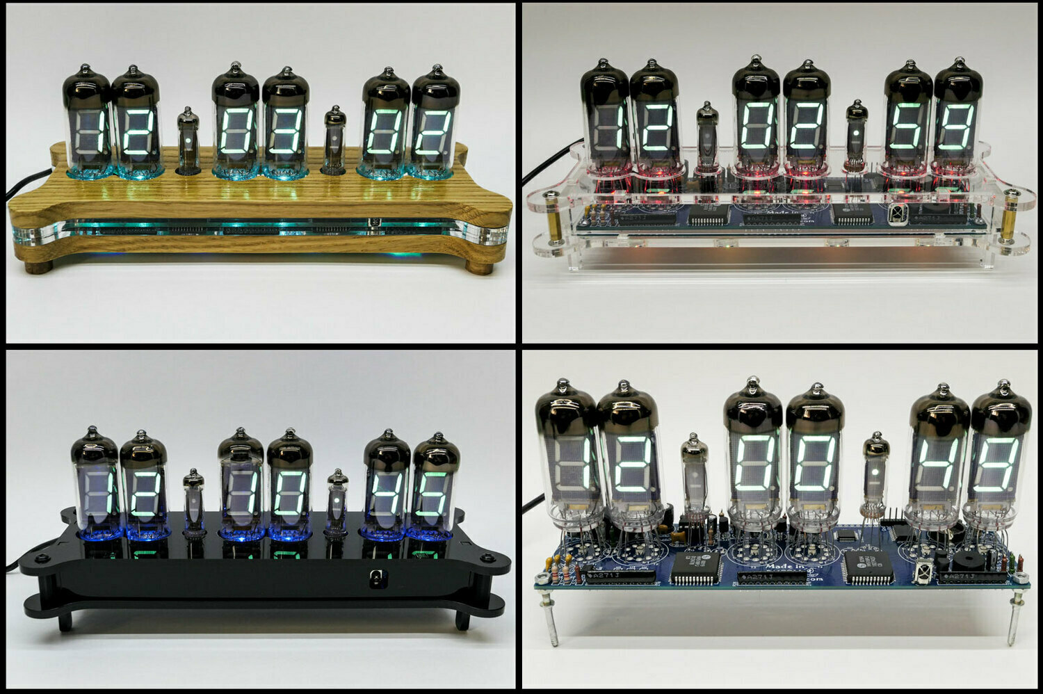 Yulia VFD IV-11 desk clock with 6x tubes