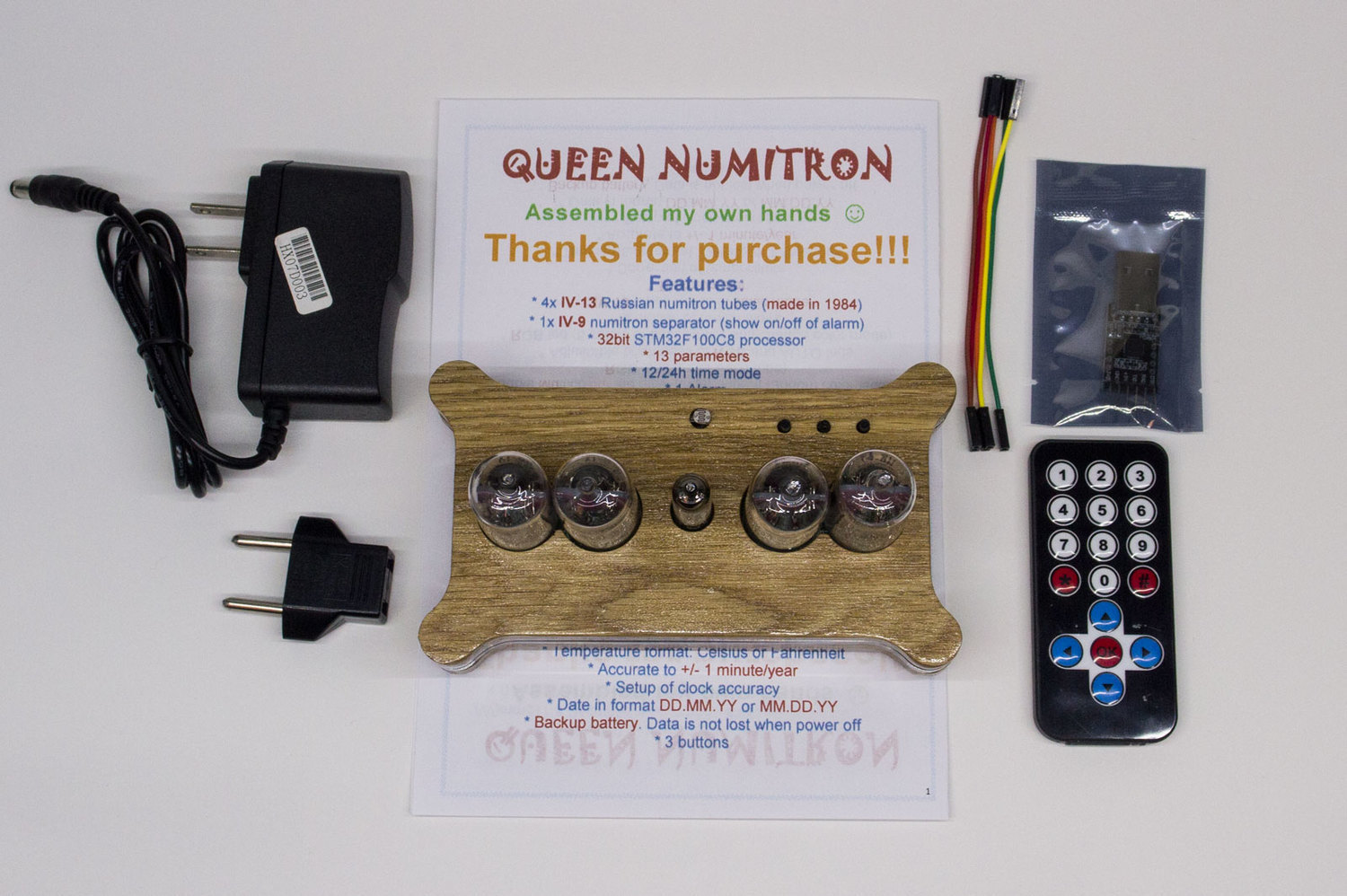 Package for Numitron IV-9 clock